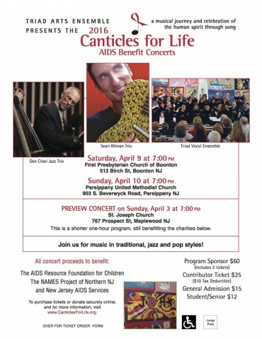 Canticles for Life Benefit Concert