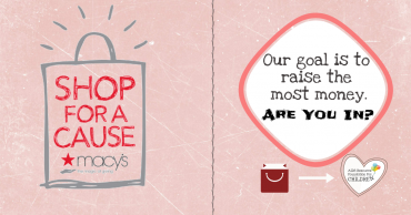 Macy's Shop for a Cause Charity Challenge